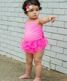 Ruffle Butts Hotpink Fairy Tutu badpak m 56-122_