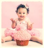 Pettiskirt Standaard pink + Cupcake Tanktop White_