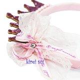 *Girls Glitter Chiffon Princess Crown Tiara Diadeem_