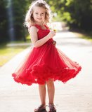 Ruffle Butts Prinses Red Pettidress    _
