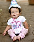 Ruffle Butts verjaardagsromper Birthday Girl Ruffle Butts _