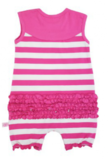 Ruffle Butts Candy Stripe Bow Romper_