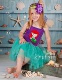 Ariel Prinsessenjurk Zeemeermin + haarband_