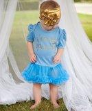 Baby jurk blauw I'm so sparkly _