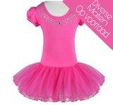 Balletpakje Daisy sparkle Fuchsia Tutu maat 98-140_