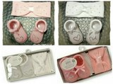 Babysokjes + haarband giftbox wit 0-6 maanden_