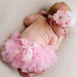 Luierbroek baby Fotoprop licht roze. _
