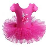 Balletpakje Daisy Ballerina Fuchsia Tutu maat 98-140_