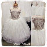 Bruidsmeisje jurk Communie ivoor creme 98-152_