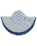 Zwemhoed / Zonnehoed Blauw Wit omkeerbaar_