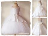 Bruidsmeisje jurk Communie ivoor strik 98-146_