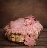 Baby Newborn Fotoshoot overslagdoek Groot dusty pink _