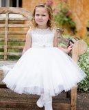 Bruidsmeisje Jurk ivoor Luxe 1-12 jaar._
