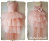 Bruidsmeisje jurk Communie Peach sleep 98-146_
