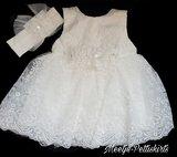 Doopjurk & bruiloft baby jurk kant ivoor Couche Tot newborn-24 mnd_