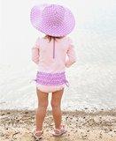 Zwemhoed / Zonnehoed lila Wit omkeerbaar_