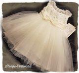 Feestjurk Bruiloft Communie & Doop jurk Ivoor Luxe Baby & Kids _