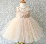 Feestjurk Bruiloft Communie & Doop jurk Champagne Luxe Baby & Kids _