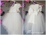Doopjurk en bruiloft jurk Handmade Dream Chiffon Luxe kant Parel Ivoor maat 56 tm 176 _