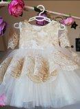 Bruidsmeisje jurk - communie jurk Luxe Handmade maat 56 tm 176 _