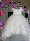 Communie jurk & Bruiloft meisje Ivoor + Grote strik Ultra Luxe Alle maten _