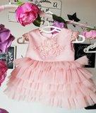 Feestjurk oud roze lovely Layers Handmade Ultra Luxe_