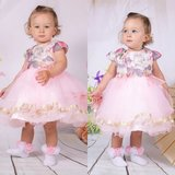 Roze baby jurk Roze wonderful flower NEW_