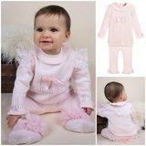 Baby set Knit Trui met Legging Spanisch Roze NEW_