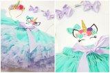 Unicorn verjaardag set De luxe 3 delig_