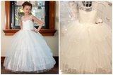 Communie jurk / Bruiloft meisje jurk ivoor sparkle style NEW_