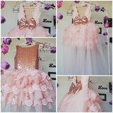 Ultra Luxe handmade feestjurk voor Bruidsmeisje en Communie 56 tm 176_
