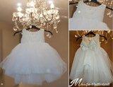 Doopjurk en bruiloft jurk Handmade Sparkle One  Dream Chiffon Luxe NEW _