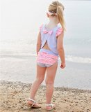 bikini met swingtop  Periwinkle Blue maat 56 t/m 104 NEW_