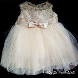 baby jurk Feest & Bruiloft Luxe Classic Couche Tot Champagne 0-24 maanden._