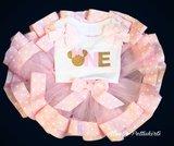 Minnie Mouse Verjaardag Tutu set roze 1 jaar Met of zonder naam _