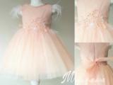 Feestjurk tutu pale pink Luxe Flower Garden Feather 110-146_