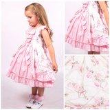 Ruffel jurk met tule en broderie Baby & Kids 56-128_