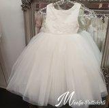 Bruidsmeisjesjurk Soft glitter Chiffon jurk V rug half lang Ivoor maat 56 tm 176 _