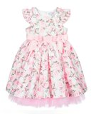 Bloemen jurk met tule en broderie Baby & Kids 56-128_