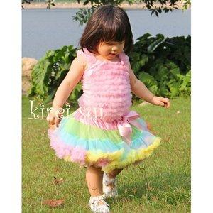 Pettiskirt standaard Pink Green Blue Yellow Orange Pettiskirt  maat 74-122