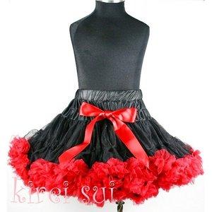 Pettiskirt Luxe Black red