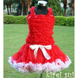 Pettiskirt Luxe Red White maat 86-158