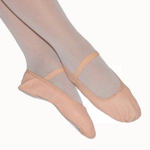 *balletschoentjes leer Roze maat 19 t/m 39
