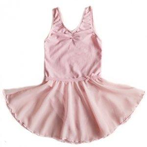 Balletpakje Chiffon rokje pink maat 92/164