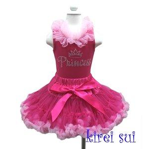 Standaard Petticoat + Hotpink Light Pink Ruffles Rhinestone Princess