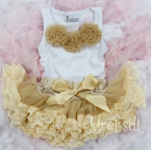 Petticoat Set standaard Ivory Kant Baby