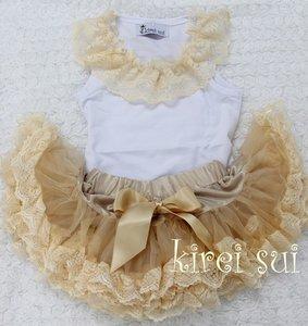 Petticoat Set standaard Ivory Kant + tanktop kant Baby