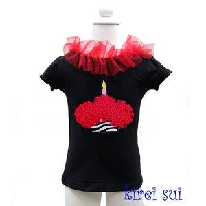 Top met korte mouw black cupcake Zebra red  80-92