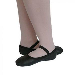 *balletschoentjes zwart leer maat 19 t/m 39