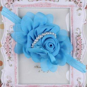 Girls Blue Rose Pearl Haarband